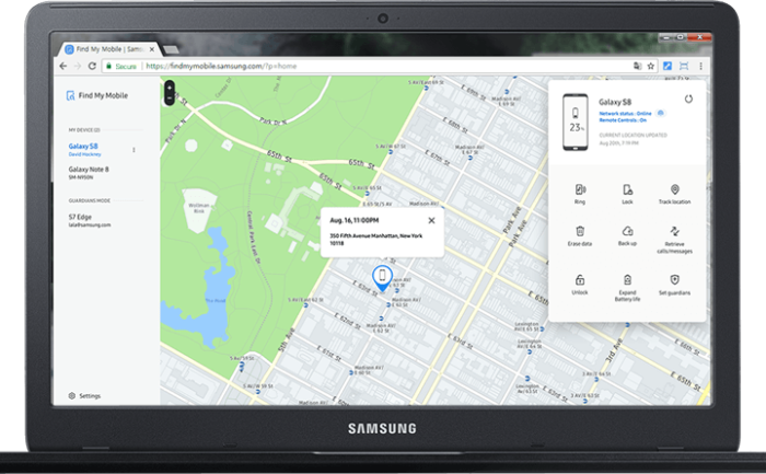 enable find my phone Samsung S10 S10 Plus