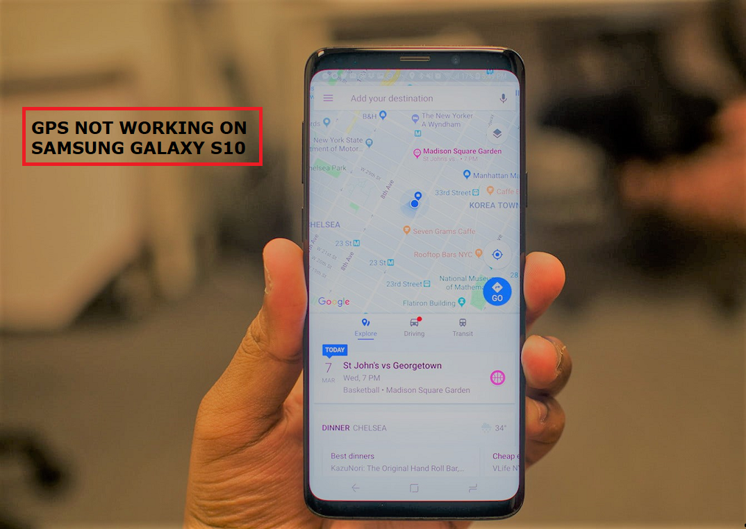 gps not working on Samsung S10
