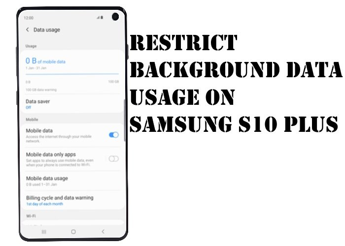 Restrict Background Data Usage on S10 Plus