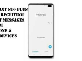 samsung galaxy S10 plus can't receive text messages from iPhone