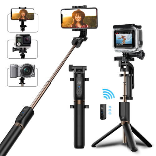 Maton Bluetooth Selfie Stick and Tripod Stand for Note 10Plus