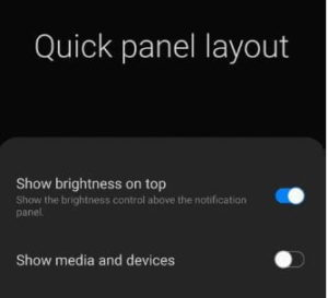 turn off media and devices bar in S10 and Note 10