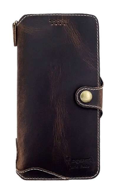 Yogurt Cowhide Leather Case for Note 10