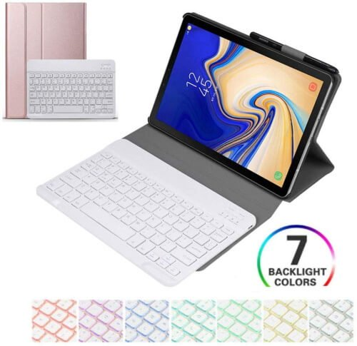 casefromme-Folio Keyboard Cover for Galaxy Tab S6