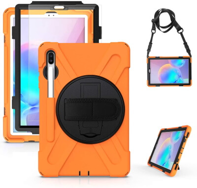 SIBEITU Screen Protector with Case for Tab S6