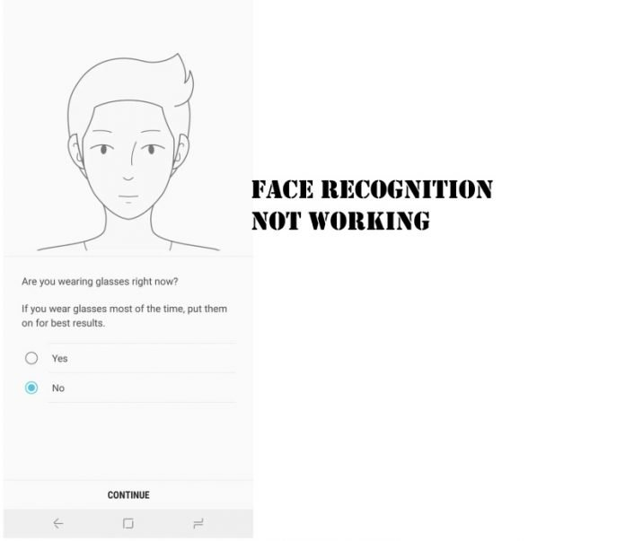 Face recognition not working on Samsung S20
