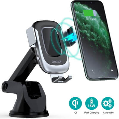CHOETECH Windshield Car Charger for Galaxy S20