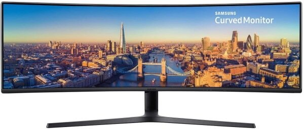 Samsung LED Curved Black Monitor (49-inch)