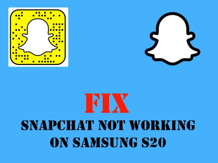 Snapchat Not Working on Samsung S20