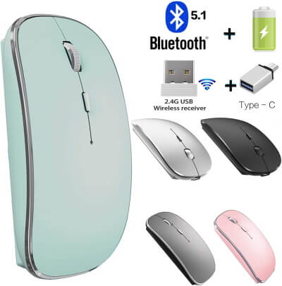 JETTA Mouse with Type-C + 2.4G + Bluetooth Connectivity