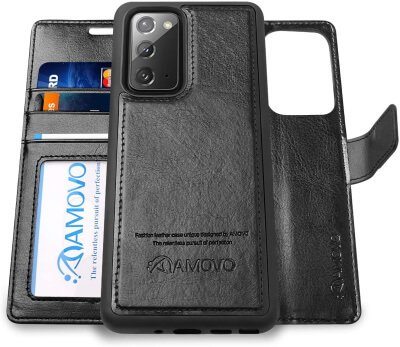 Best Accessories Leather Wallet Case Note 20 Ultra, Note 20
