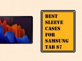 Best Sleeve Cases for Samsung Tab S7