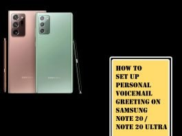 How to Set Up Voicemail on Galaxy Note 20, Note 20 Ultra