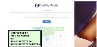 How to Set Up and Use Find My Mobile on Samsung Note 20, Note 20 Ultra