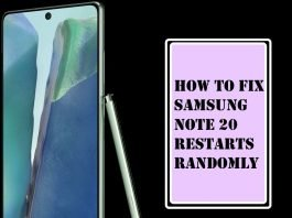 Samsung Galaxy Note 20 Restarts Randomly Here's the Fix!