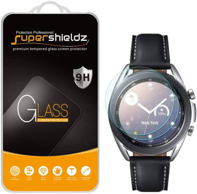 SuperShieldz Tempered Glass Protector for Samsung Watch 3 [41mm]