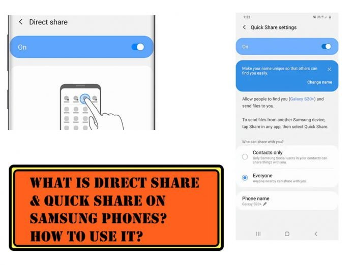 What is Direct Share and Quick Share on Samsung and How to Use it